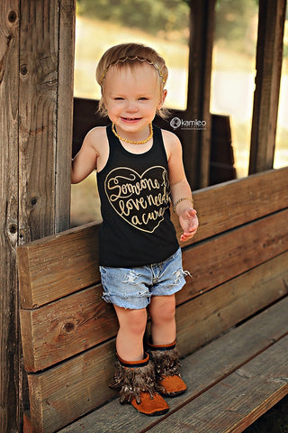 Cure shirt - Someone I love needs a cure tank top for infants and toddlers