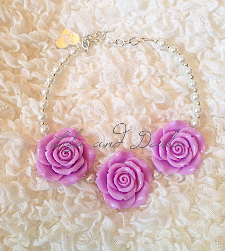 Flower Girl Necklace - PURPLE Merbabe Mermaid