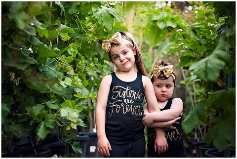 Sisters are forever tank top for infants and toddlers