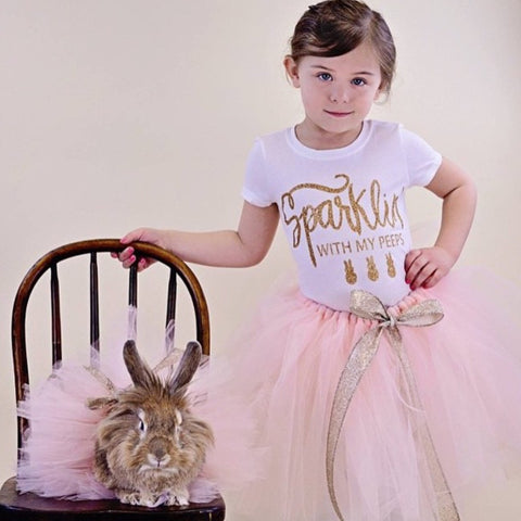 Sparklin with my peeps Toddler and Girls Sparkle T Shirt