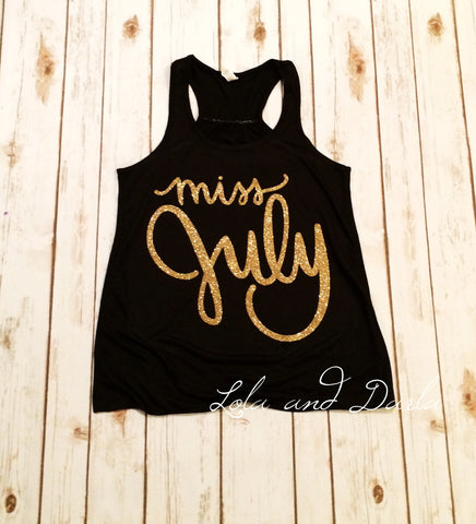 Miss July Women's Tank Top