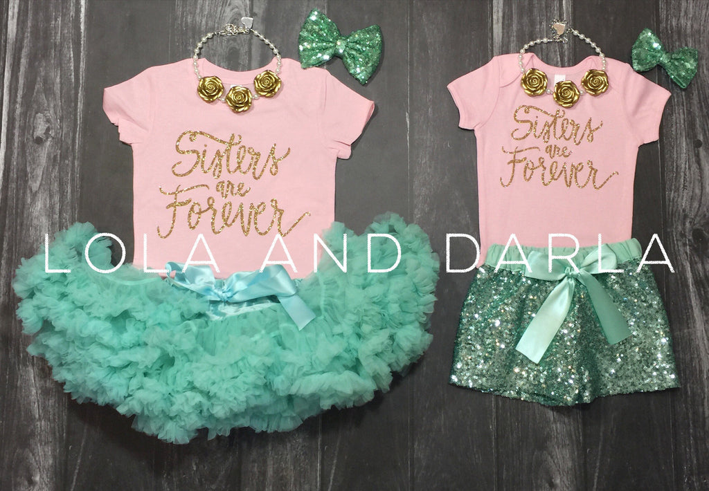 Sisters are Forever Baby bodysuit