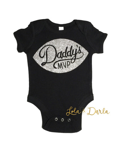 Daddy's MVP Football Baby Bodysuit
