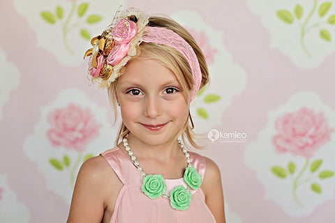 Flower Girl Necklace - MINT GREEN