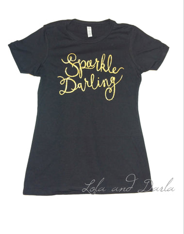 Sparkle Darling Womens Sparkle T Shirt