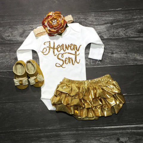 Heaven Sent long Sleeve Baby bodysuit