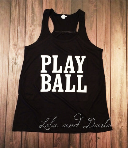 PLAY BALL Sports and Sparkle Women's TANK TOP