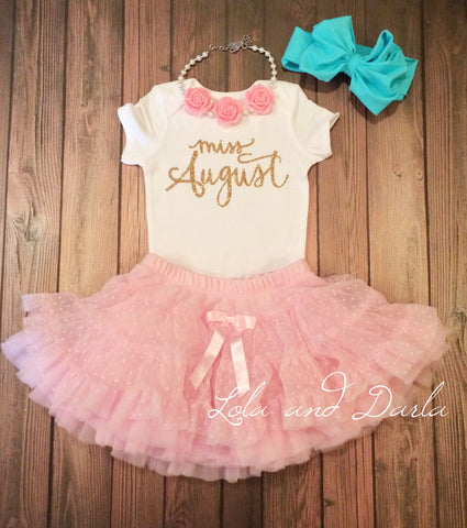 Miss August Baby bodysuit