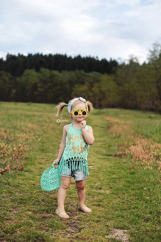Summer Babe Toddler and Girls Fringe Tank