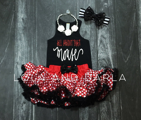 The Sparkle Babe sequin bow tutu petti skirt in red, black and white polka dot