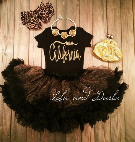 Miss California Sparkle bodysuit
