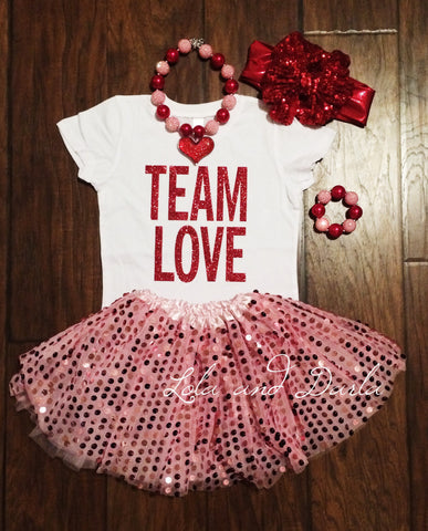 TEAM LOVE® Toddler and Girls Sparkle T Shirt