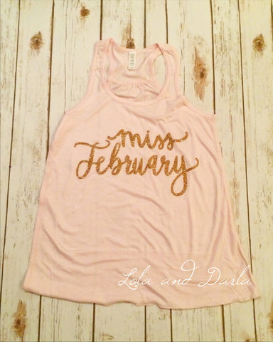 Miss February Women's Tank Top