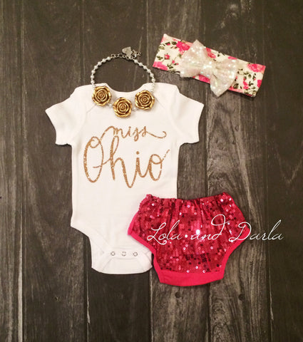Miss Ohio Sparkle bodysuit