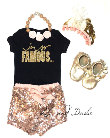 I'm So Famous... Toddler and Girls Sparkle T Shirt