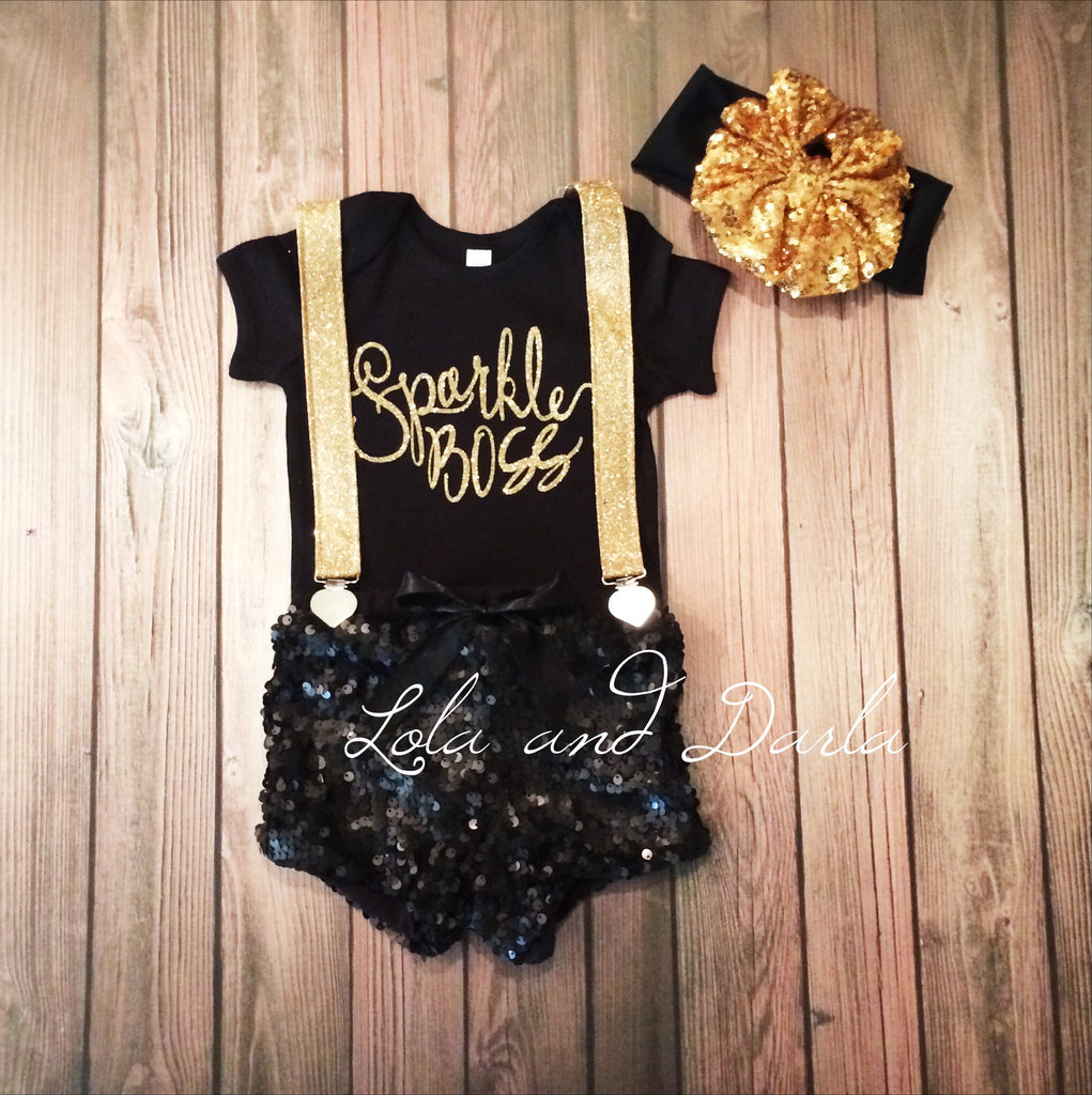 Sparkle BOSS Baby bodysuit