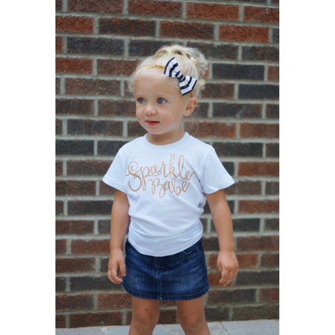 Sparkle Babe Toddler and Girls Sparkle T Shirt