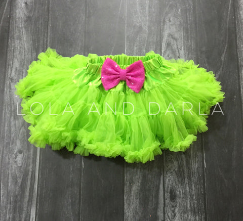 The Sparkle Babe pettiskirt in NEON GREEN