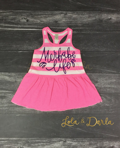 Merbabe Life striped toddler dress