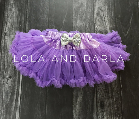 The Sparkle Babe sequin bow tutu petti skirt in LIGHT PURPLE