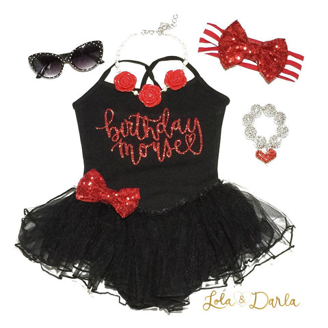 Birthday Mouse Leotard Tutu Dress