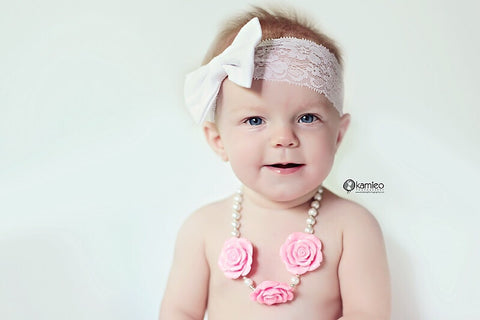 Flower Girl Necklace -PINK