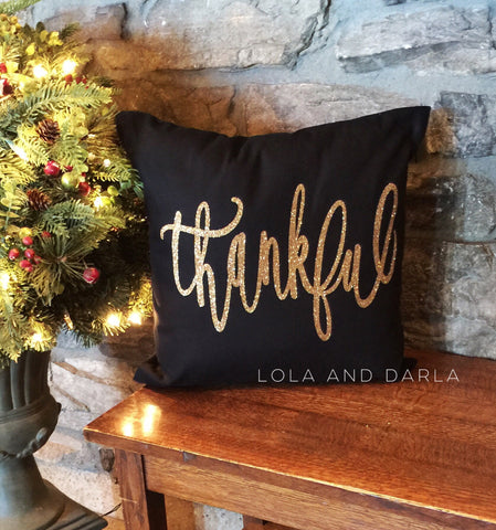 Thankful Sparkle Pillow