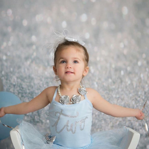 Blue Birthday Babe Leotard Tutu Dress