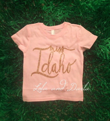Miss Idaho Toddler and Girls Sparkle T Shirt
