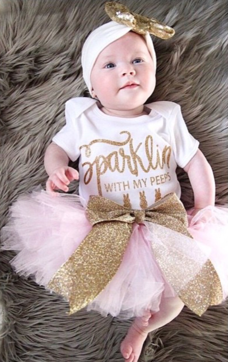 Sparklin' with my Peeps Easter Baby bodysuit