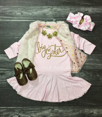 Big Sister long sleeve sparkle dress