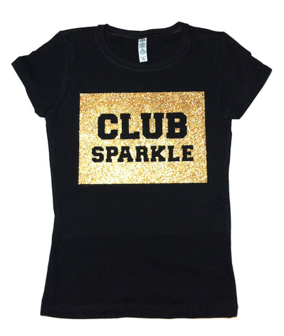 CLUB SPARKLE Womens Sparkle T Shirt