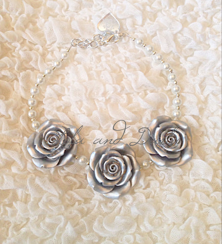 Flower Girl Necklace© - PLATINUM