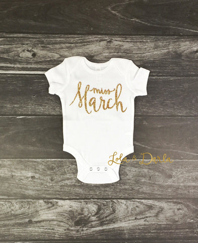 Miss March Baby bodysuit