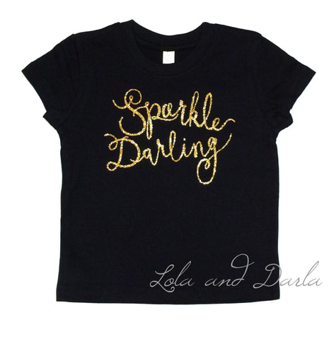 Sparkle Darling Toddler and Girls Sparkle T Shirt