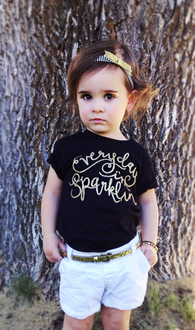 Everyday I'm Sparklin' Toddler and Girls Sparkle T Shirt