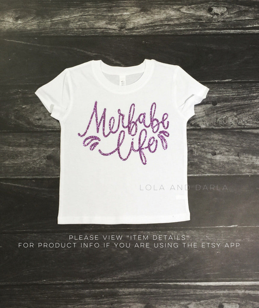 Merbabe Life toddler and Girls Short Sleeve Sparkle T Shirt