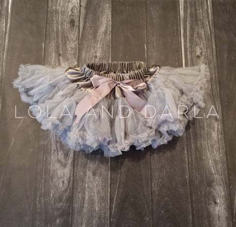 The Sparkle Babe tutu petti skirt in SILVER
