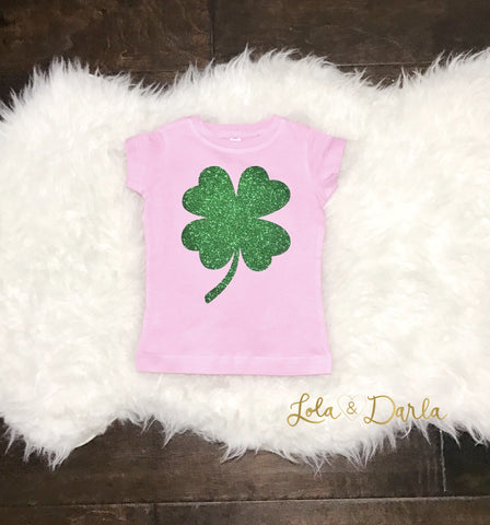 Shamrock Toddler and Girls Sparkle T Shirt