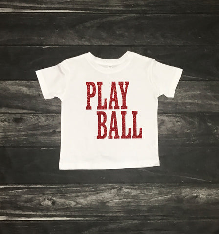 Play Ball Toddler and Girls Sparkle T Shirt