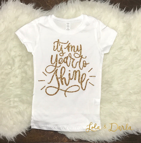 It's My Year to Shine Toddler and Girls Sparkle T Shirt