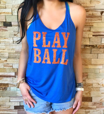 Baseball PLAY BALL Women's Tank