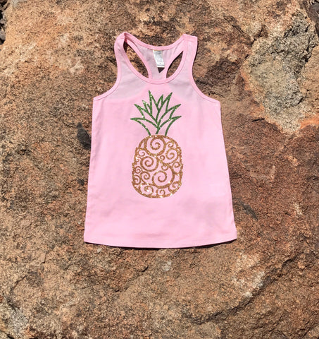 Fresh Sparkle Pineapple tank top