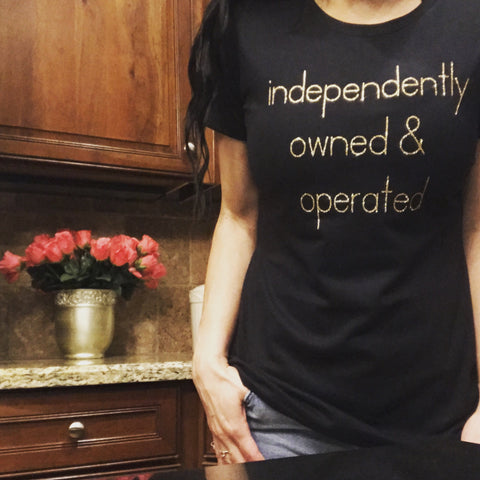 Independently owned and operated Womens Sparkle T Shirt