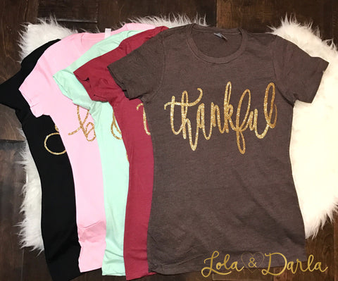 Thankful Short Sleeve T Shirt for Women