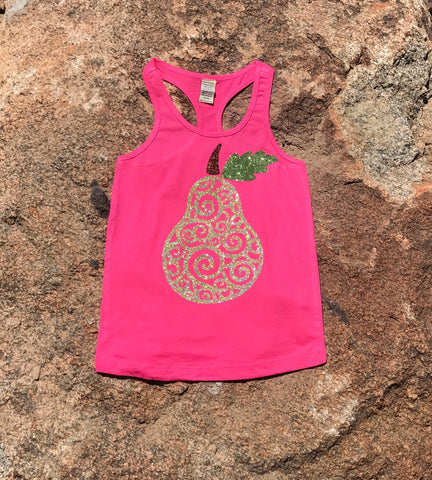 Fresh Sparkle Pear tank top
