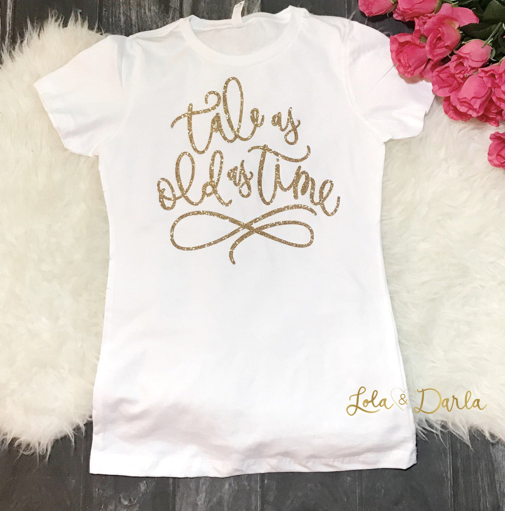 Tale as old as time Womens Sparkle T Shirt