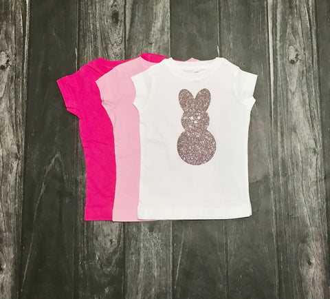 Rosé Sparkling Bunny Toddler and Girls Sparkle T Shirt