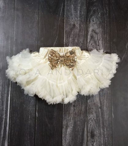 The Sparkle Babe pettiskirt in IVORY