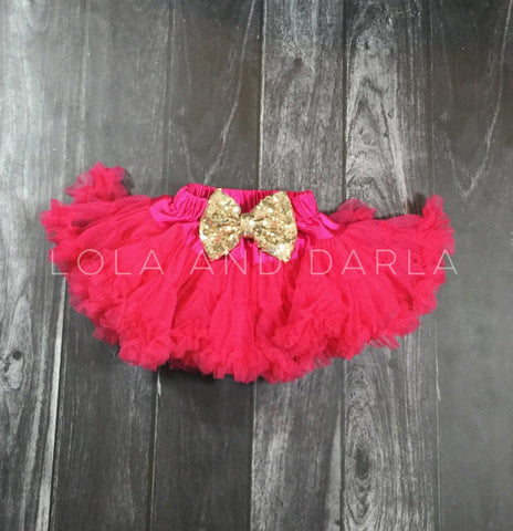 The Sparkle Babe tutu petti skirt in SHOCKING PINK